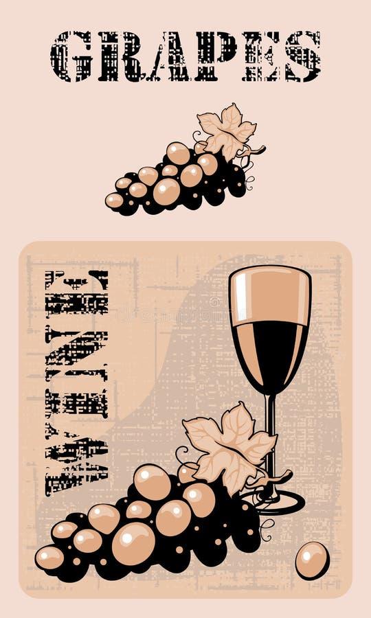 winogrona royalty ilustracja