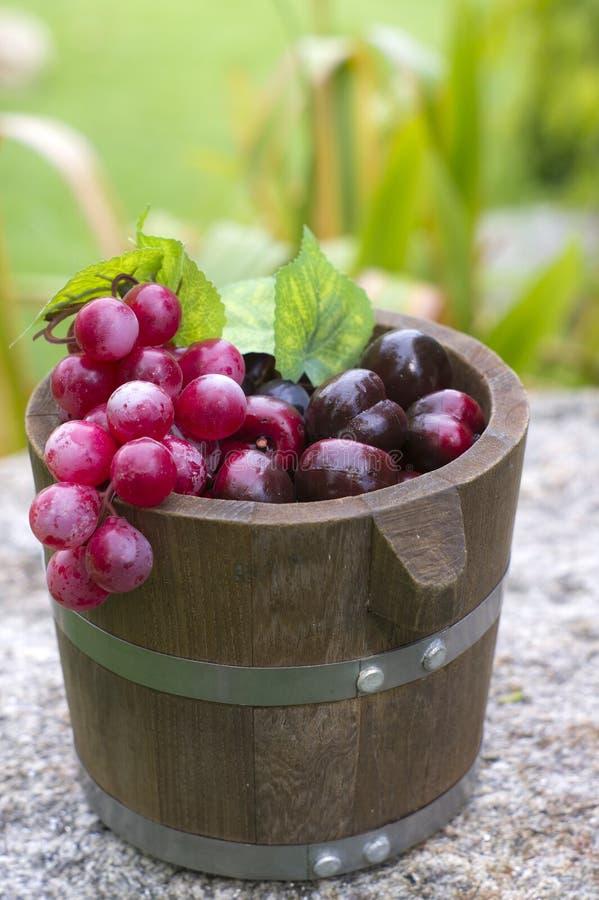 Winogrona i dębu baryłki 4 zdjęcia stock