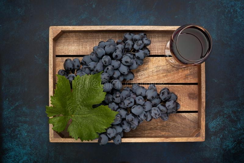 Winogrona i wino zdjęcie stock