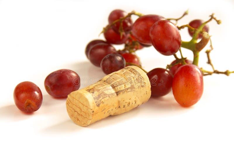 winogrona korka czerwone wino obraz royalty free