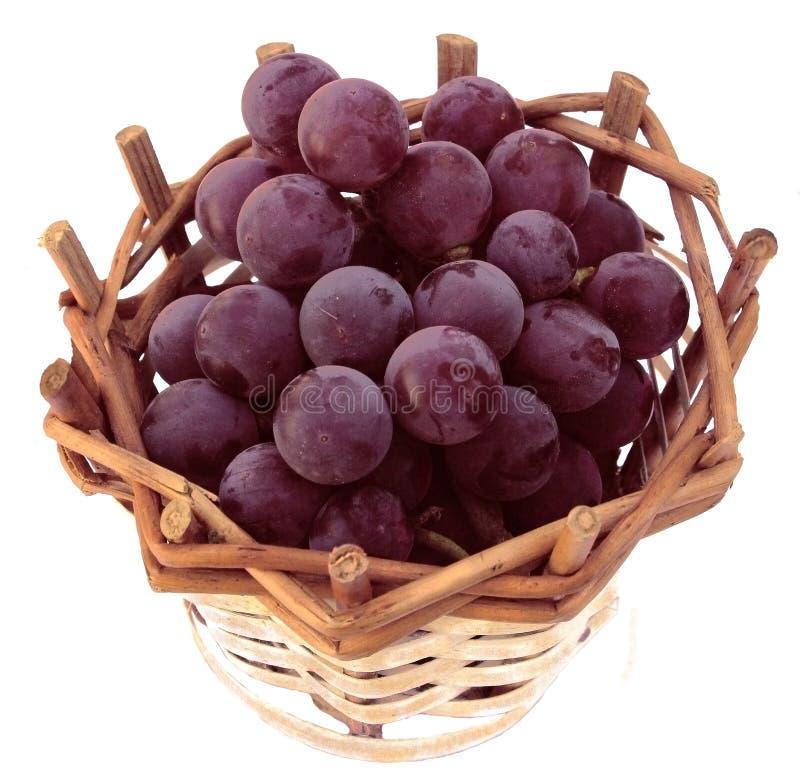 Winogrono w koszu obraz royalty free