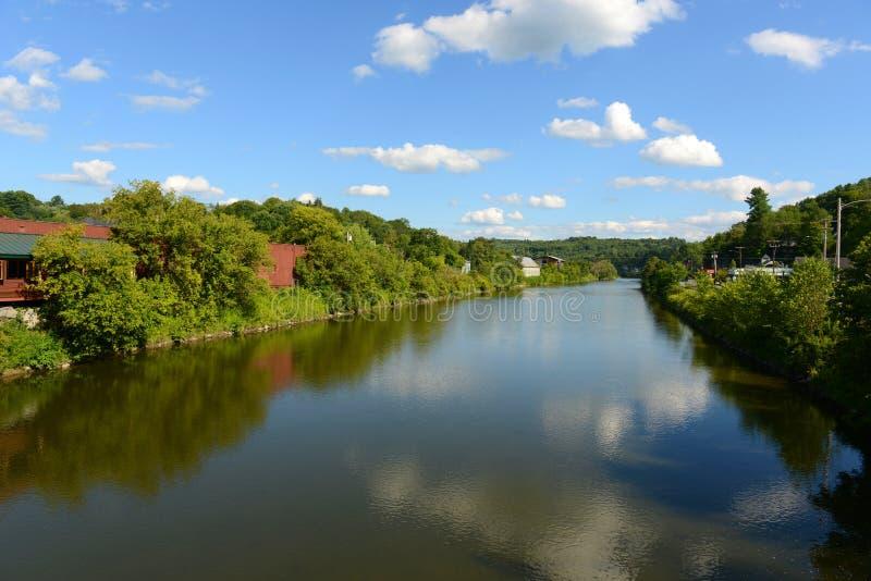 Winooski河,蒙彼利埃,佛蒙特 免版税库存照片