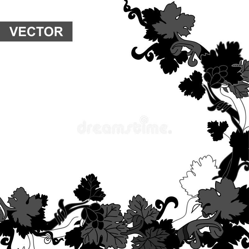 Winorośli czerń ilustracja wektor