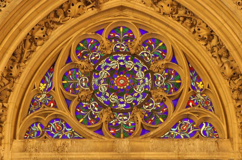 Winow-pane from gothic church in Paris
