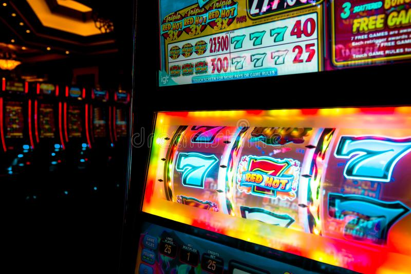 777 WINS by Las Vegas casino. royalty free stock images