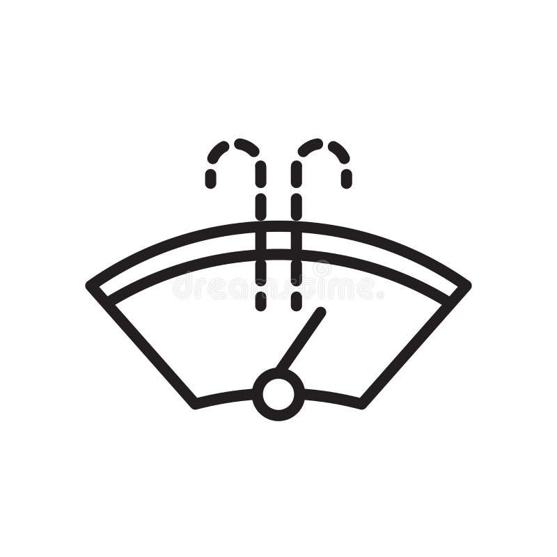 Winshield-Wischerikonenvektorzeichen und -symbol lokalisiert auf weißem Hintergrund, Winshield-Wischer-Logokonzept stock abbildung