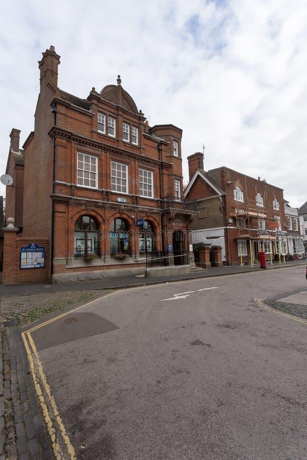 Winslow, Buckinghamshire, United Kingdom, October 25, 2016: TSB. Bank on Market Square on grey chilly morning royalty free stock photography