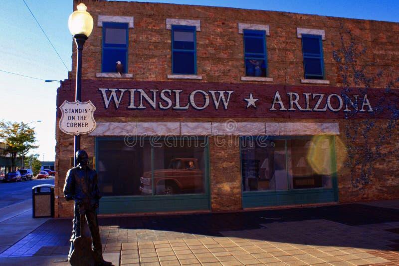 Winslow Eagles Corner photographie stock libre de droits