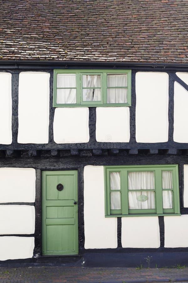 Timber frame cottage. Winslow, UK - April 27, 2015. Old Tudor timber frame cottage in England, UK royalty free stock photography