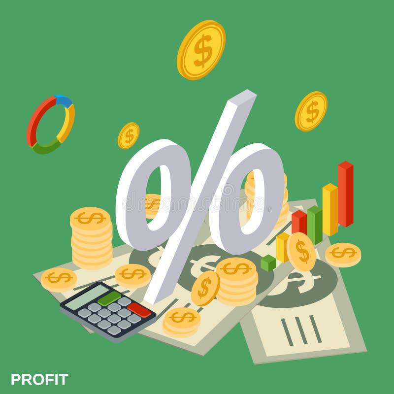 Winst, financiële statistieken, bedrijfsrapport vectorconcept vector illustratie