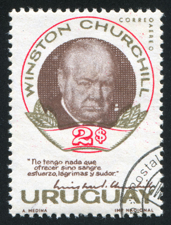 Winston Churchill photographie stock