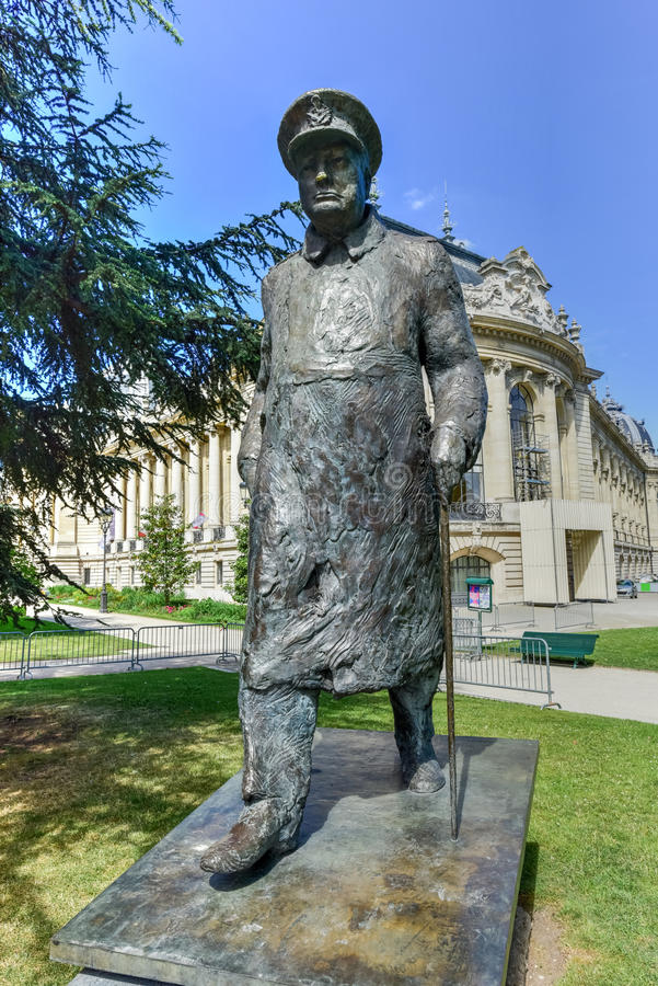 Winston Churchill statua - Paryż, Francja fotografia stock