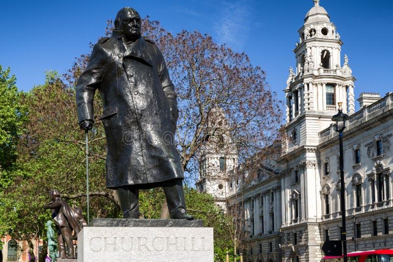 Winston Churchill statua w Londyn obrazy stock