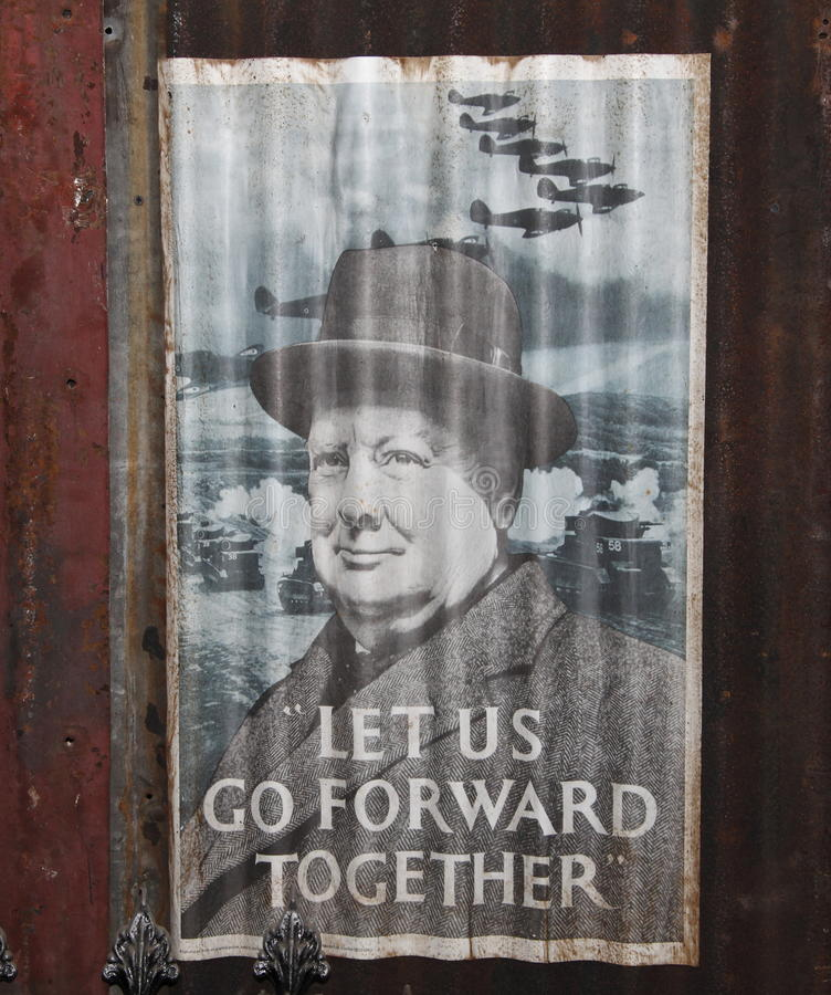 Winston plakat Churchill WWII obrazy stock