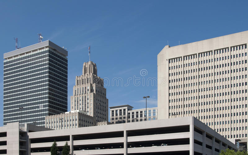 Winston-Salem. A view of downtown Winston-Salem, North Carolina royalty free stock images