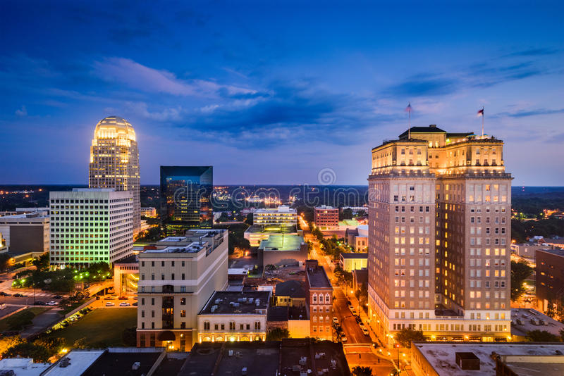 Winston-Salem, Carolina Skyline du nord photo libre de droits