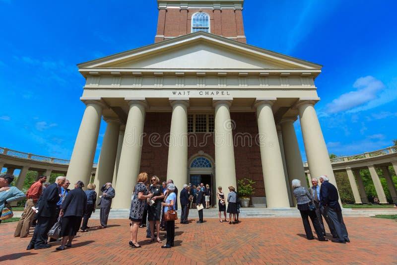 Wait Chapel at Wake Forest University. WINSTON-SALEM, NC, USA: Wait Chapel on April 18, 2015 at Wake Forest University in Winston-Salem, North Carolina stock photography