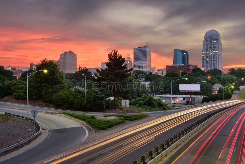 Winston-Salem, Nord-Carolina Skyline stockfotos
