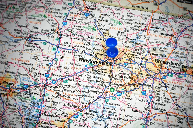 Winston-Salem North Carolina fotografering för bildbyråer