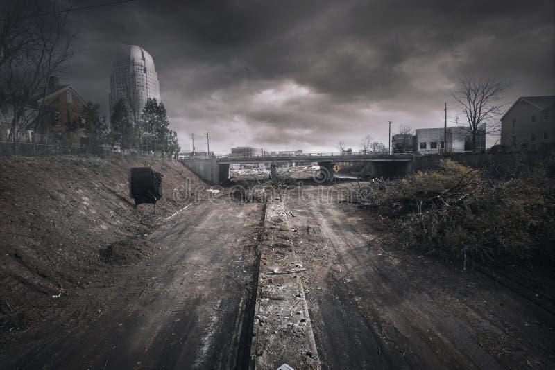 Winston Salem Road Construction arkivbild