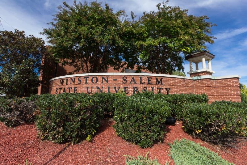 Winston-Salem State University Sign imágenes de archivo libres de regalías