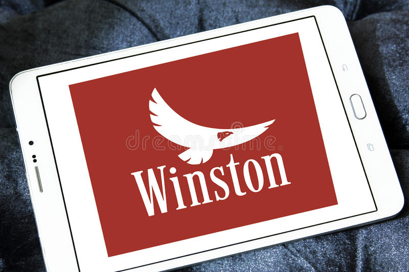 Winston-Zigaretten-Firmenlogo lizenzfreie stockfotos
