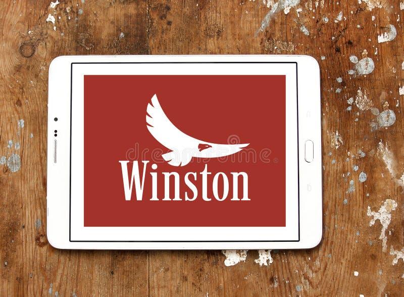 Winston-Zigaretten-Firmenlogo stockbild
