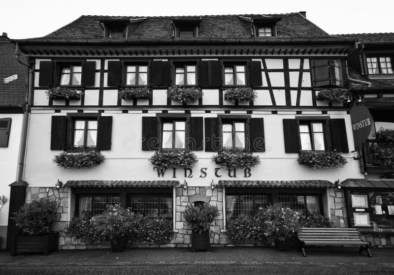 Winstub Alsacien Photographie stock libre de droits