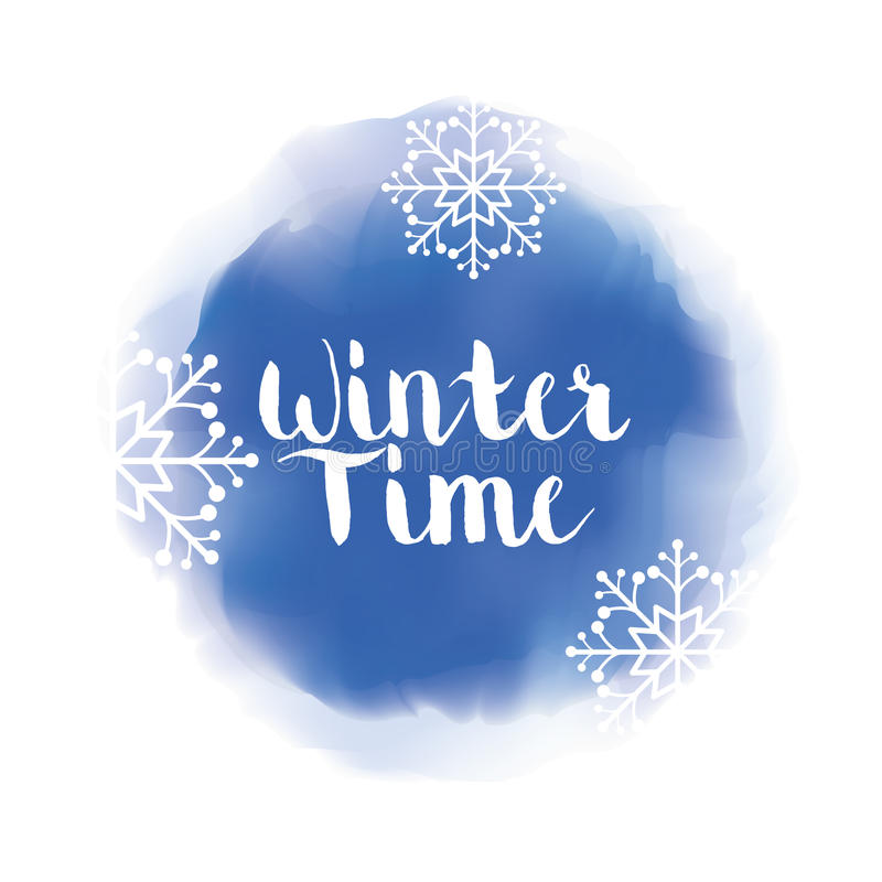 Winte时间和雪 向量例证