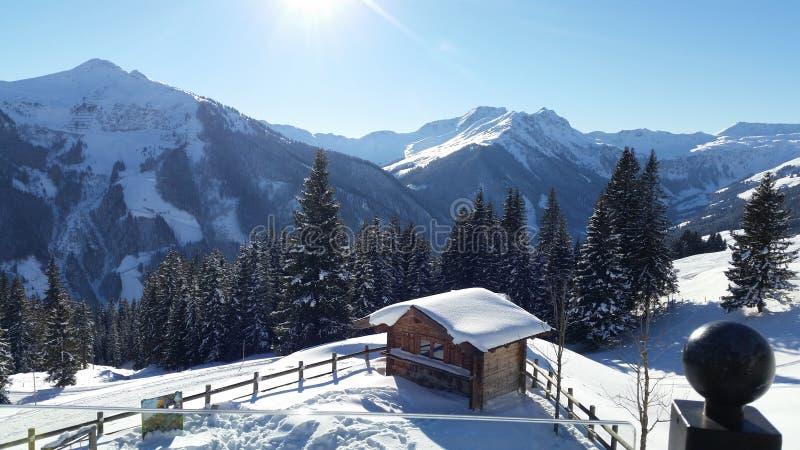 Winter in Österreich lizenzfreie stockfotos