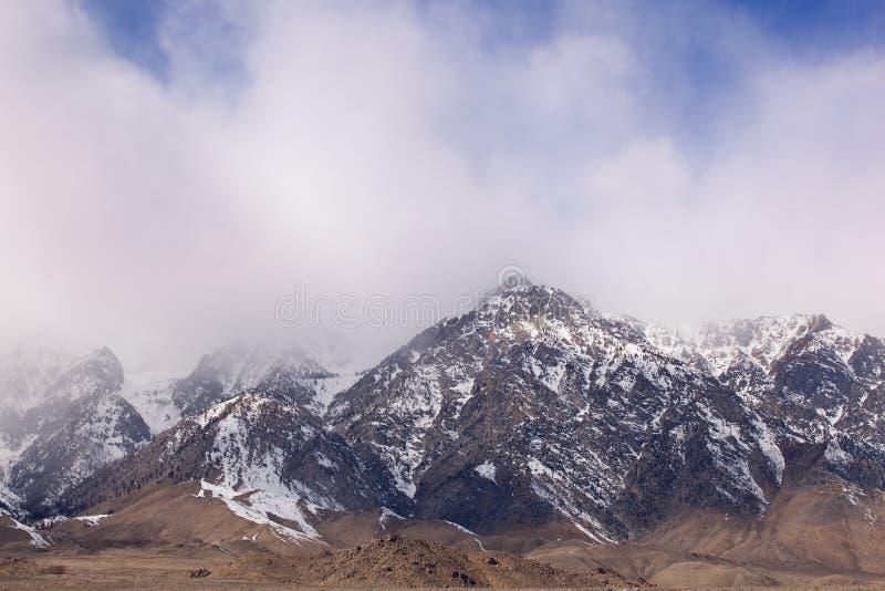 Winter, östliche Sierra Nevada lizenzfreies stockfoto