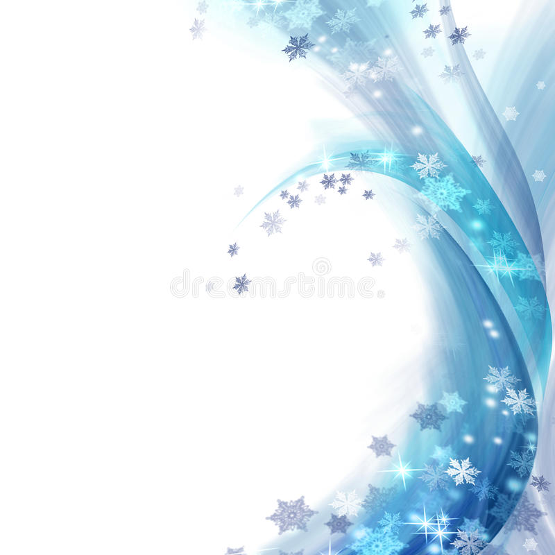 Winter. Beautiful Winter Border.Isolated on a white background vector illustration
