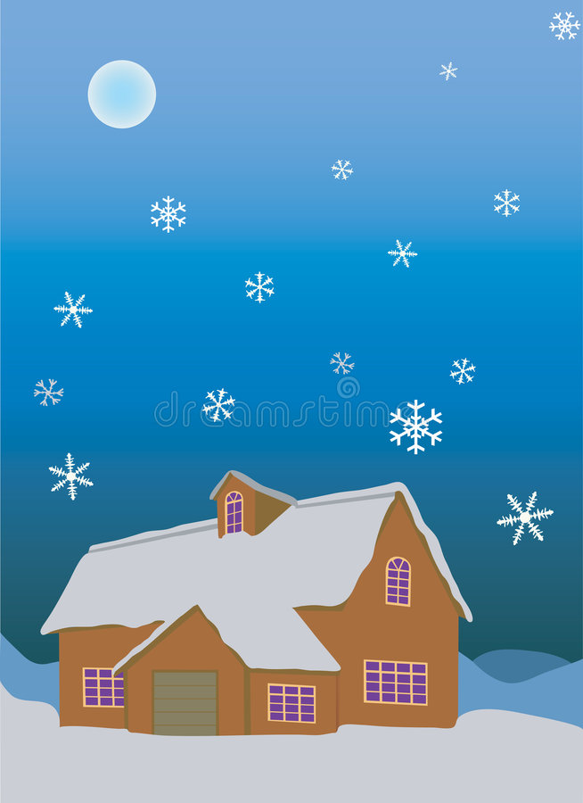 Download Winter stock vector. Image of night, snowflake, window - 3984661