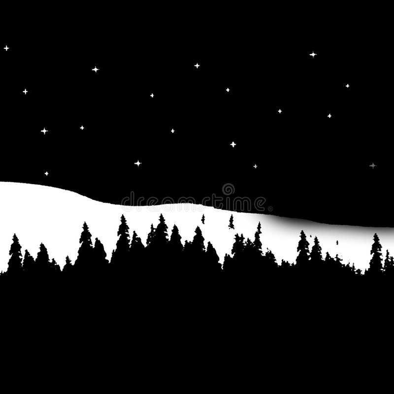 Download Winter stock illustration. Image of hilly, freezing, nighttime - 588347