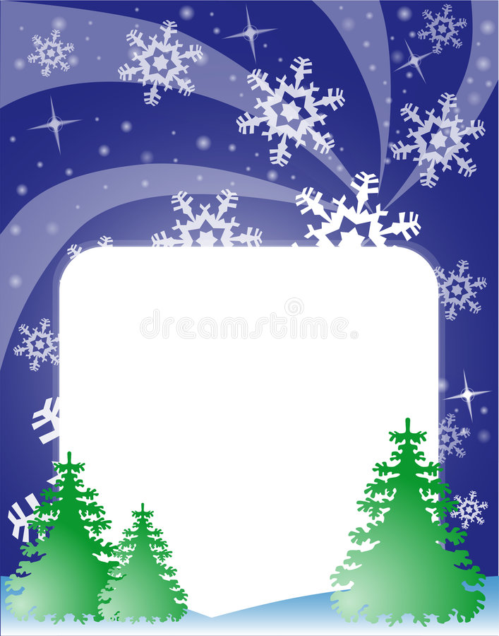 Download Winter stock vector. Image of snowflake, greeting, evening - 6735415