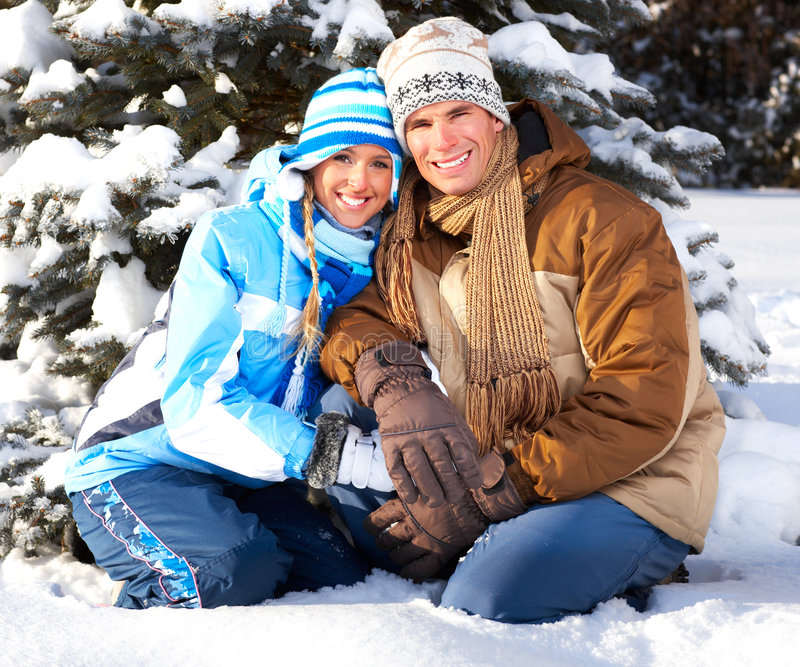 Download Winter stock photo. Image of happy, laugh, cold, outdoor - 7644340