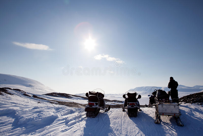Winter-Abenteuer-Landschaft lizenzfreies stockfoto