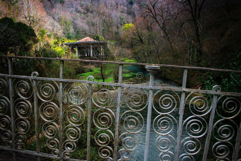Winter in Abkhazia royalty free stock photo