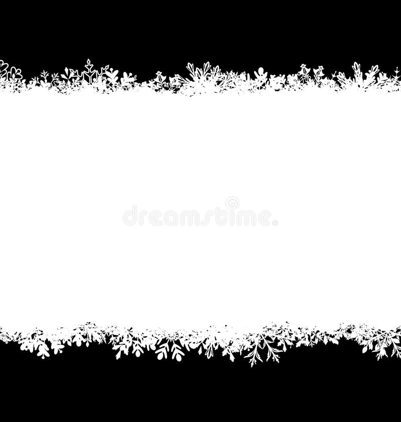 Winter Abstract Background with Snow. Christmas Snow Surface royalty free illustration
