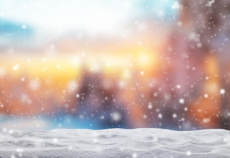 Winter abstract background with snow pile stock photography