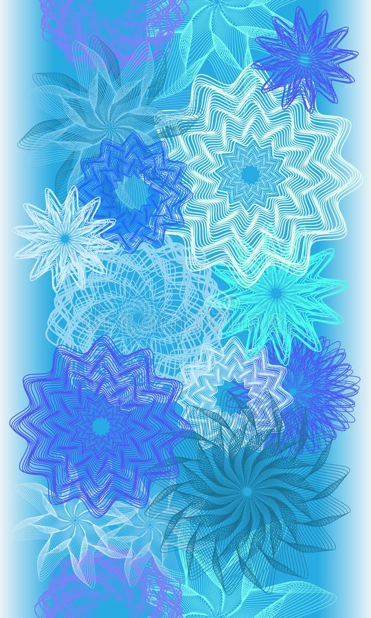 Winter abstract flowers seamless banner. Vector illustration vector illustration