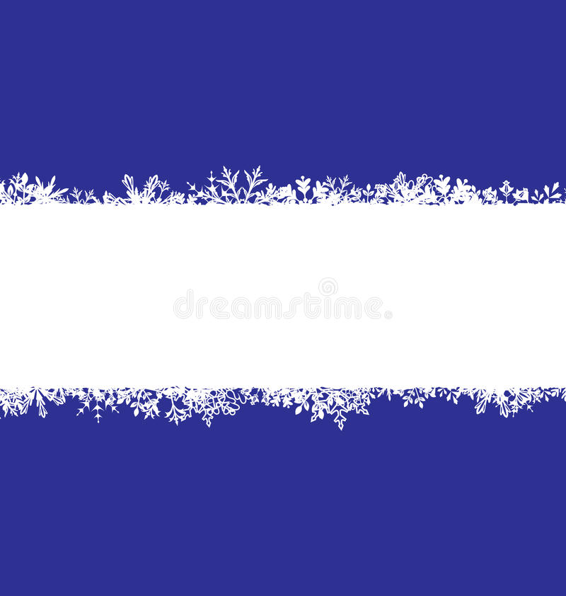 Winter Abstract Frame with Snow. Christmas Snowflake Surface stock illustration