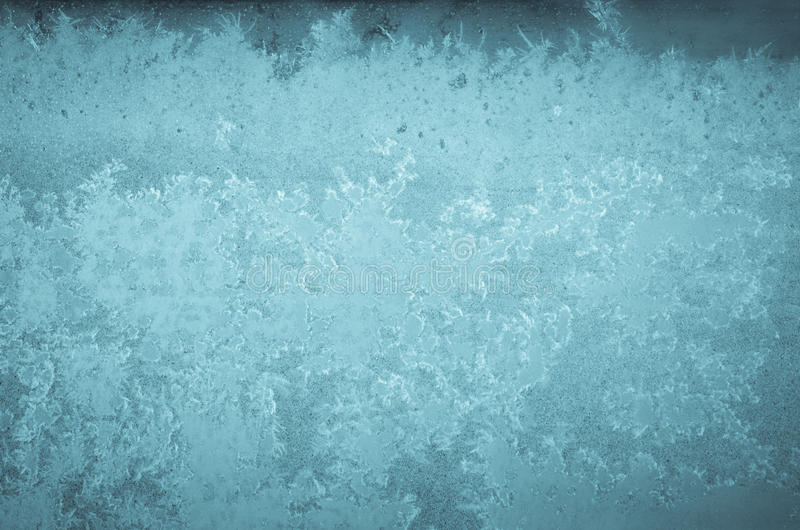 Winter abstract frost pattern. On glass stock photography