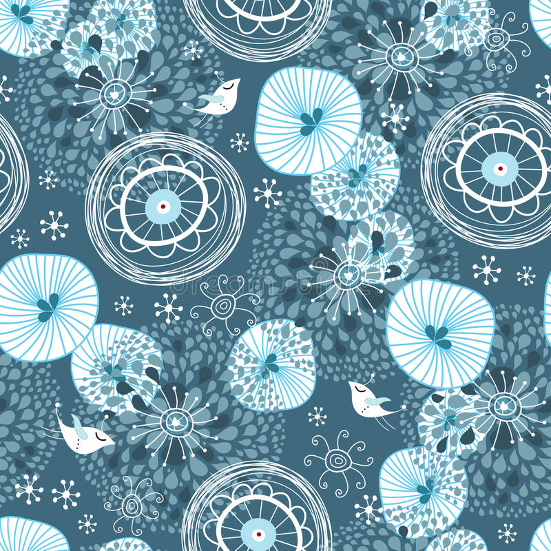 Winter abstract pattern royalty free illustration