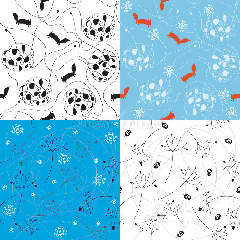 Download Winter Abstract Seamless Pattern Stock Vector - Image: 19925052