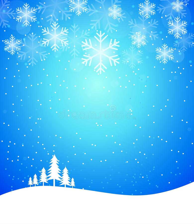 Free Winter Abstract Snowflake Background In Blue Stock Photography - 61414212