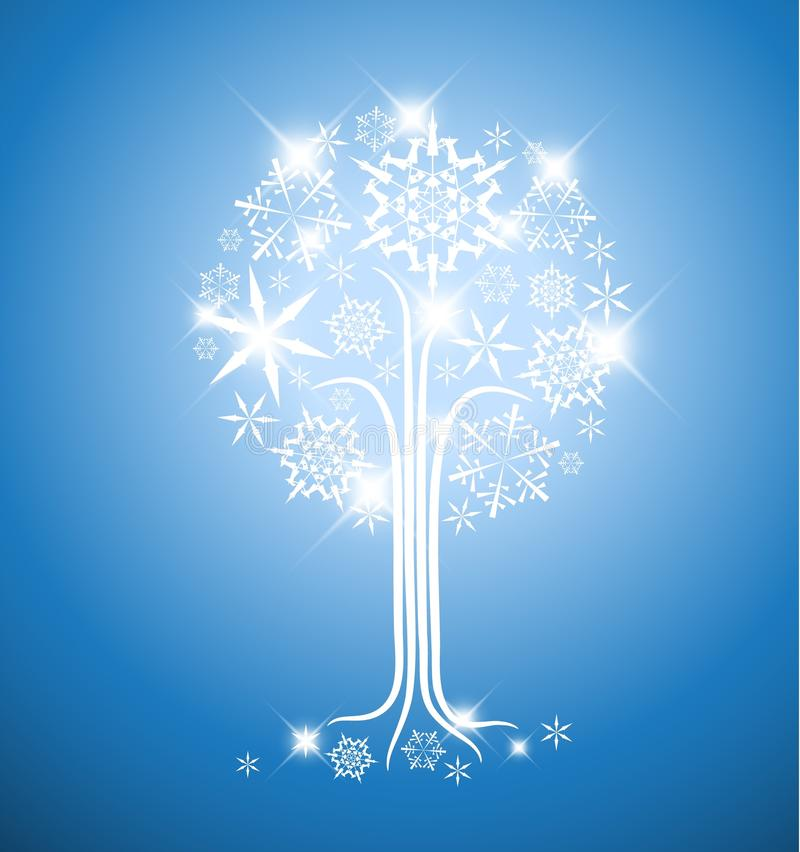 Winter abstract tree