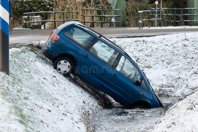 Winter accident royalty free stock image