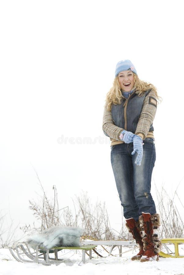 Winter acitvities royalty free stock image