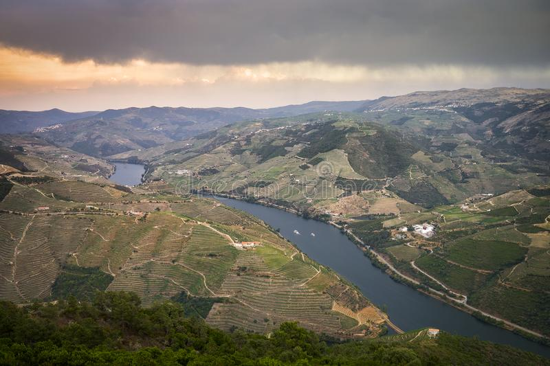 Winter afternoon in Douro River. Portugal royalty free stock images